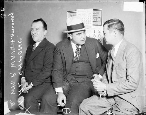 [William F. Waugh facing Al Capone]