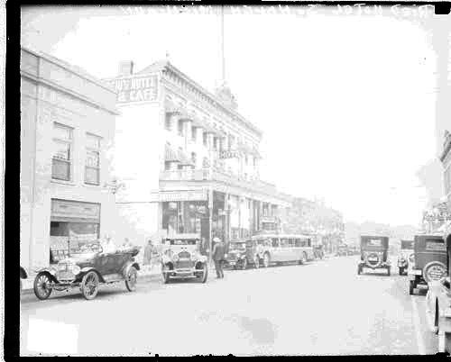 [Exterior view of a hotel on a commercial street in South Haven, Michigan]