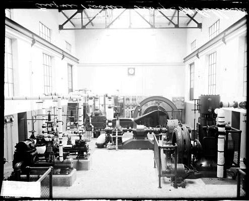 [Engine room of George M. Pullman Trade School, light exposure]