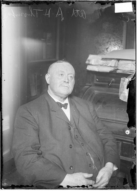 [Albert H. Thompson, attorney in the Johann Hoch case, dark exposure]