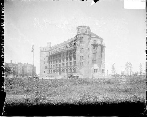 [1st Cavalry Illinois National Guard new armory building, East Chicago Avenue and Lake Shore Drive]