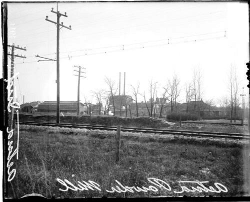 [Aetna Powder Mill, a gun powder plant, Aetna, Indiana, distant view]