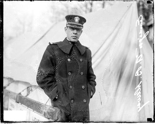 Open URL [Ensign Albert B. Dewey standing in front of a tent at the  sc 1 st  Explore Chicago Collections - Chicago Collections Consortium & ECC | [Ensign Albert B. Dewey standing in front of a tent at the