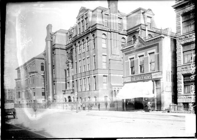 [Andersen School, viewed at an angle from across the street]