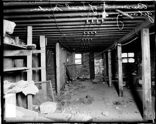 [Basement of getaway building used by William Weil's murderers]