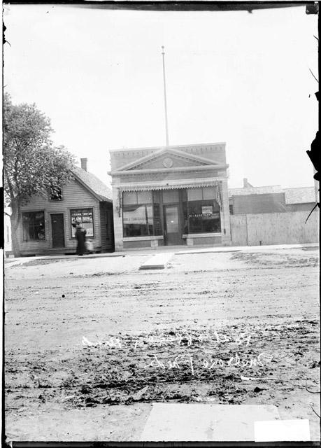 [Melrose Park post office and bank]