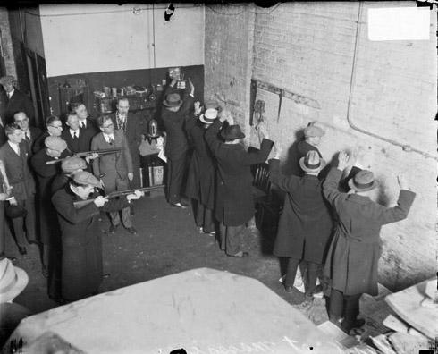 Ecc Seven Men Raising Their Hands During Reenacted Of St Valen