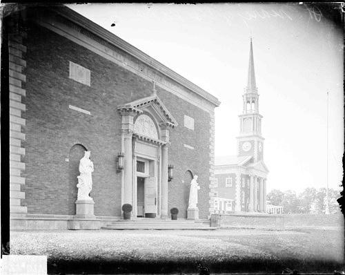 [Building at St. Mary of the Lake Seminary in Mundelein, Illinois]