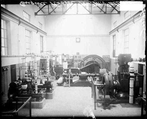 [Engine room of George M. Pullman Trade School, dark exposure]