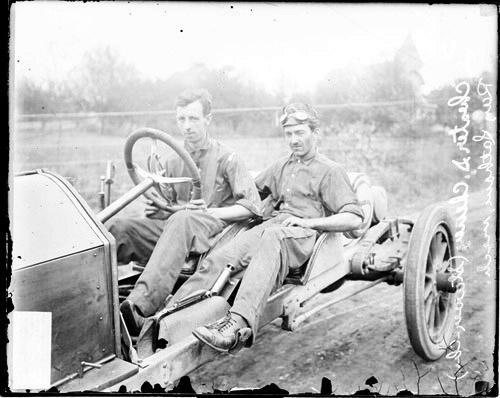 ECC | [Automobile driver Chester S. Chaney and automobile ...