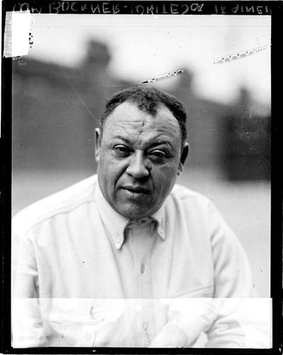 [Baseball trainer William Buckner, White Sox, standing outdoors]