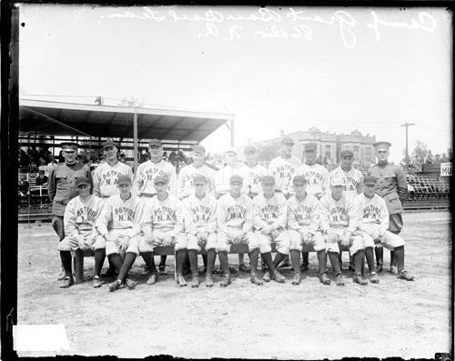 [Baseball team, Camp Grant, on a baseball field]