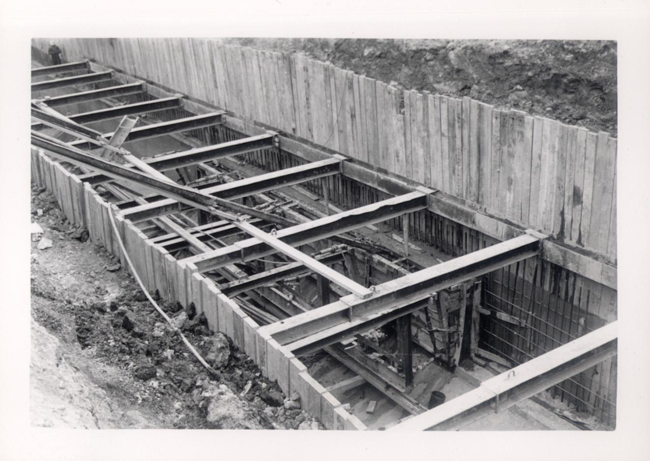 49th Street near La Crosse Avenue, sewer construction, March 14, 1958