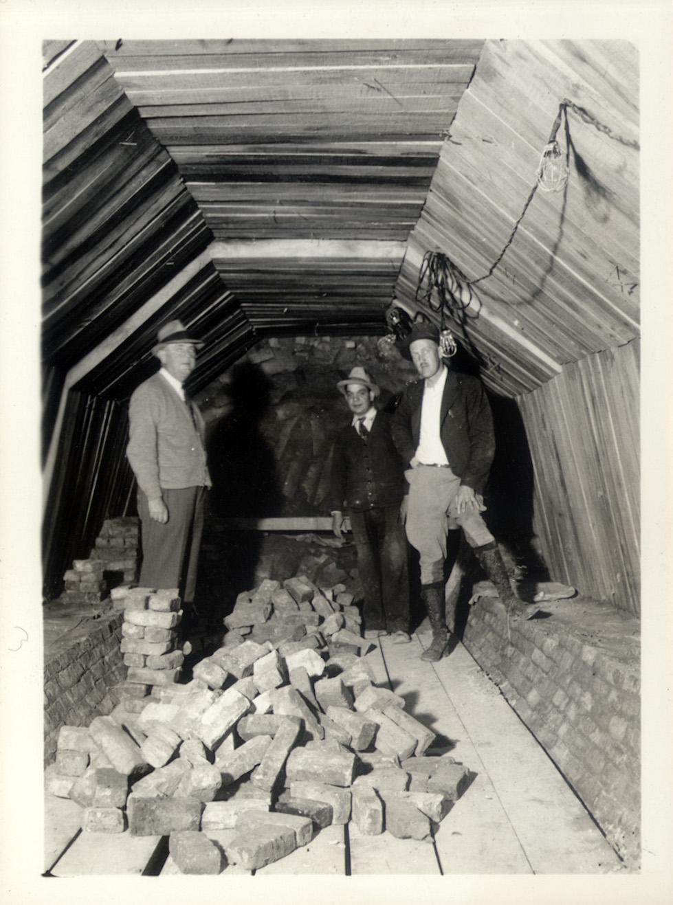 111th Street, sewer tunnel, April 1938