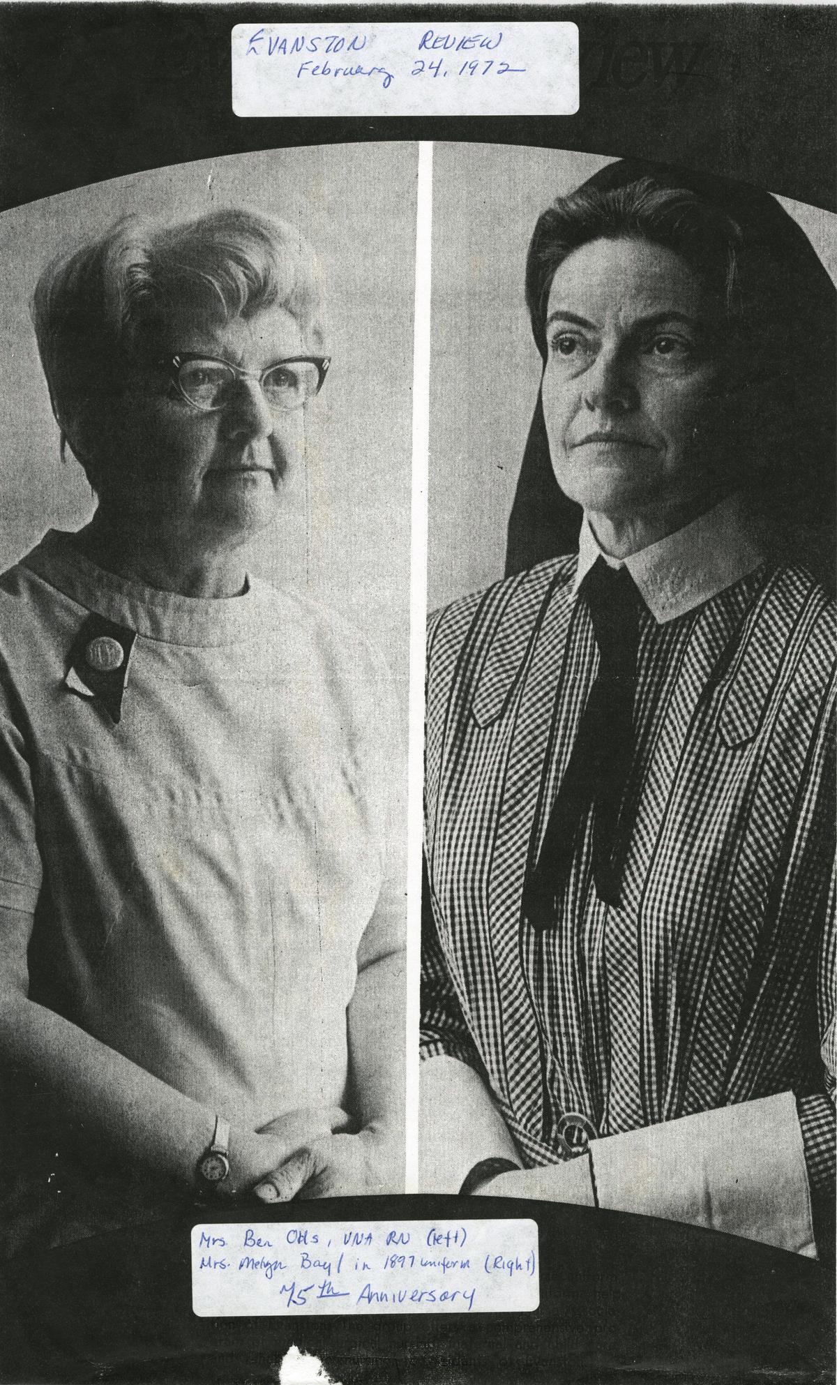 Visiting Nurse Association North: Evanston Review 1972