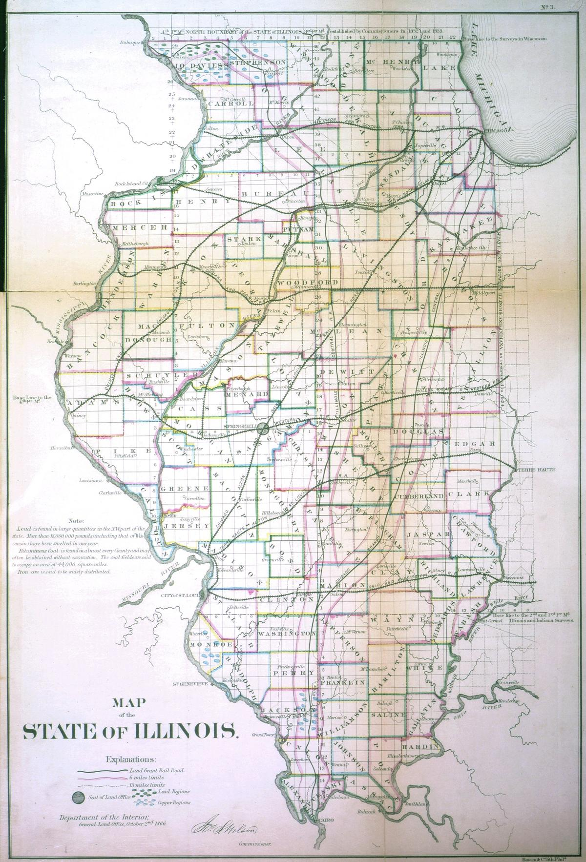 Map of the state of Illinois
