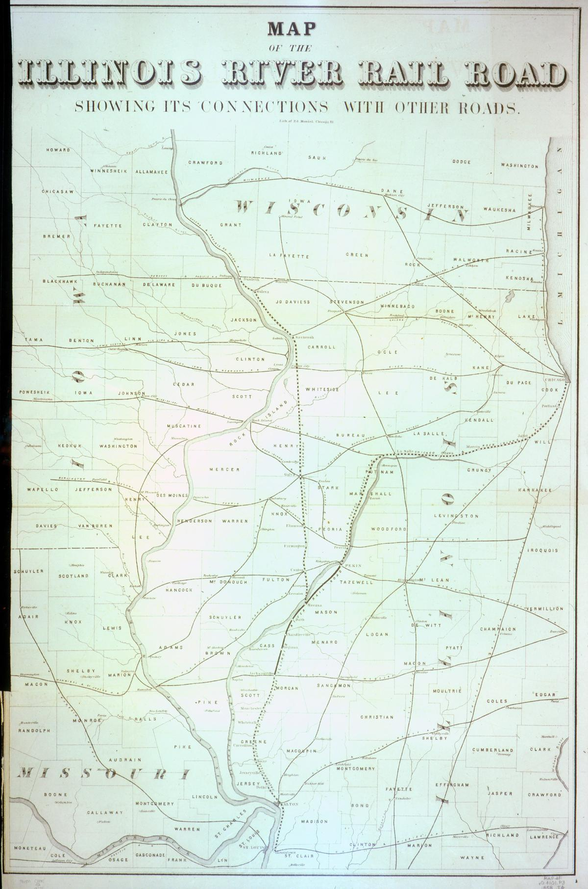 Map of the Illinois River Rail Road