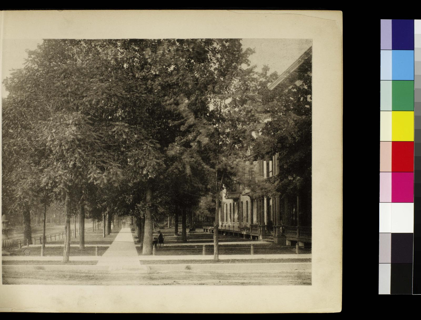 Photographic views of picturesque Evanston, state of Illinois. Avenue House. Versos