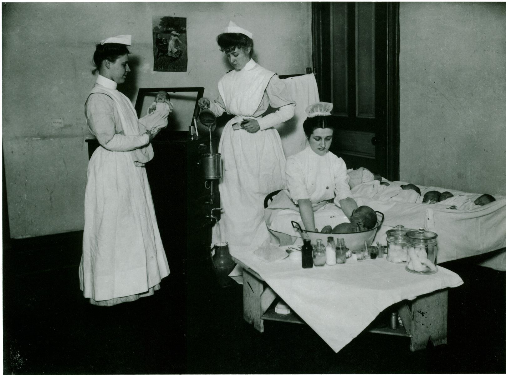 ECC   Presbyterian Hospital Nursery, circa 1910