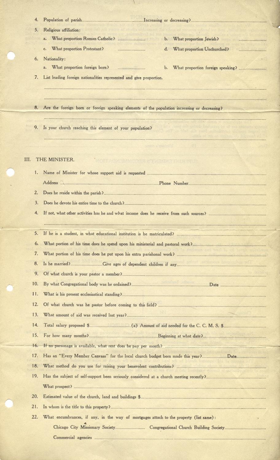 Application for aid, p. 3