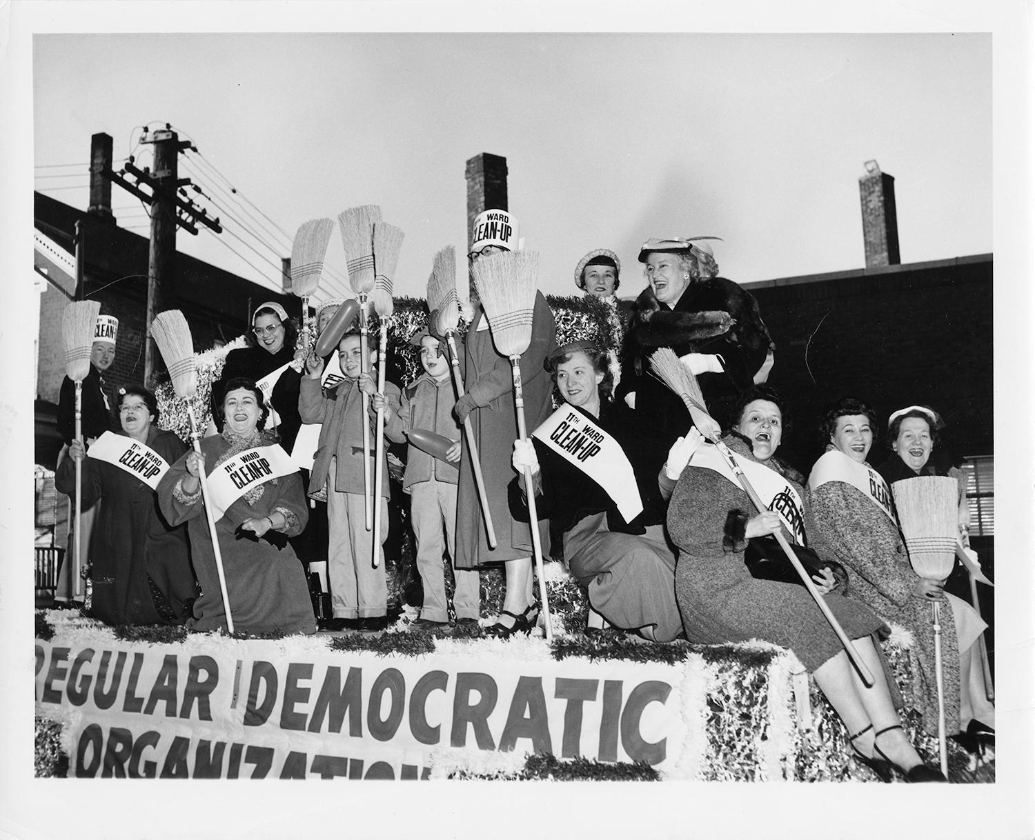 11th Ward Cleanup Parade Float, undated.