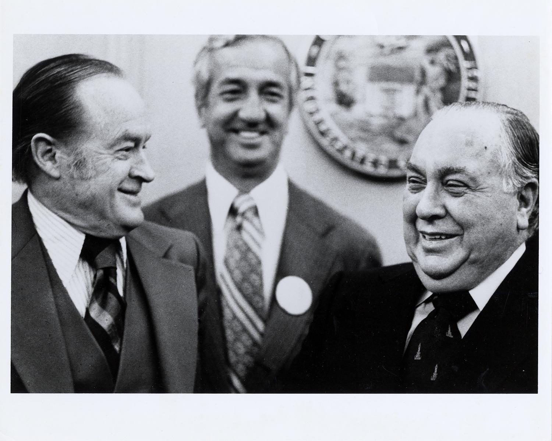 Bob Hope and Richard J. Daley.
