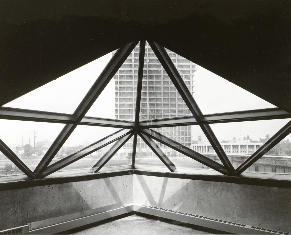 Architecture and Art Laboratories (Architecture and Design Studios) windows, ca. 1969.