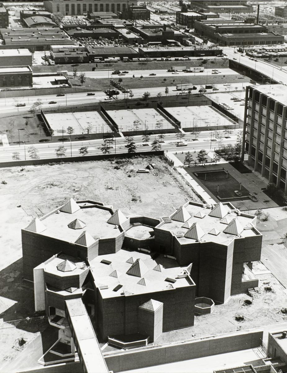 Architecture and Art Laboratories building (Architecture and Design Studios) nearing completion, ca. 1969.