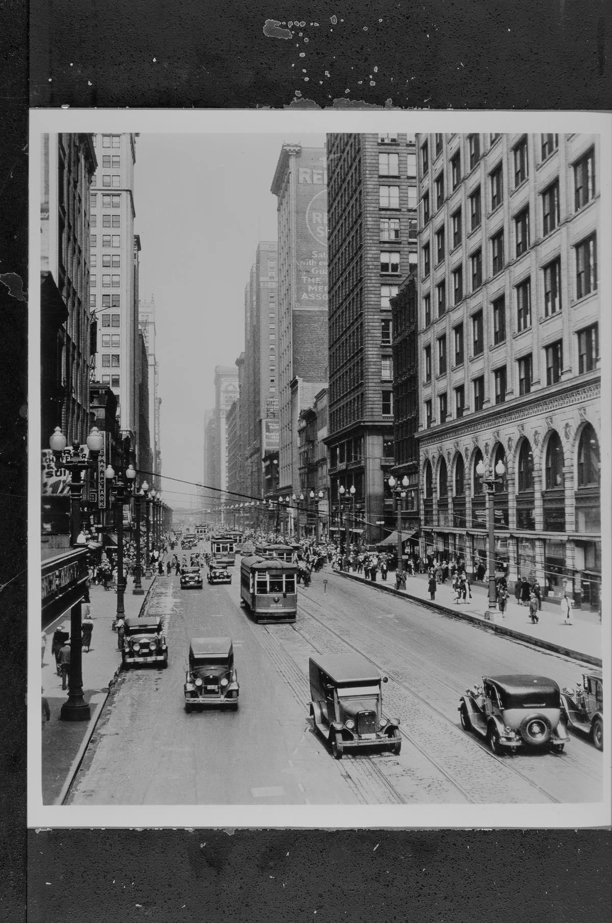 400 S. State Street; Goldblatt's store at right