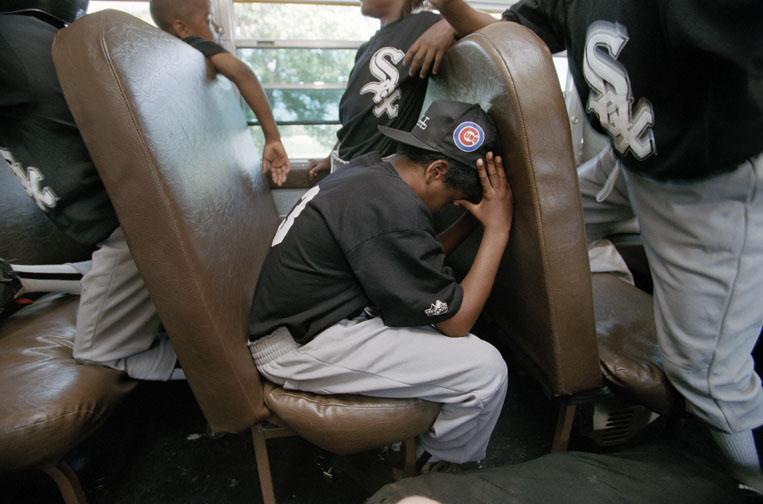 Boys Baseball Team on Bus
