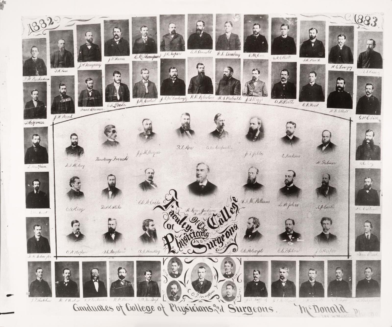 1882/1883 graduating class, University of Illinois College of Medicine