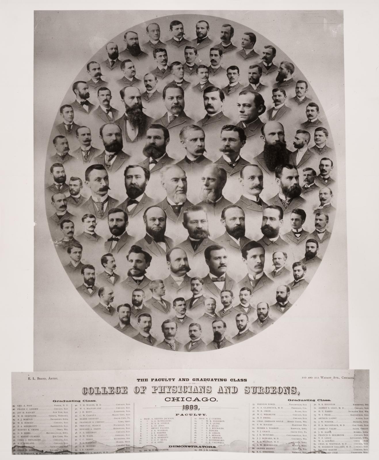 1889 graduating class, University of Illinois College of Medicine