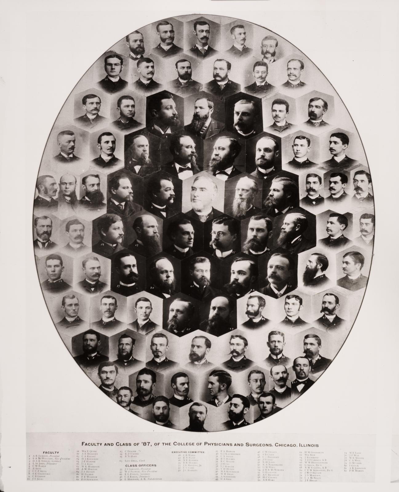 1887 graduating class, University of Illinois College of Medicine