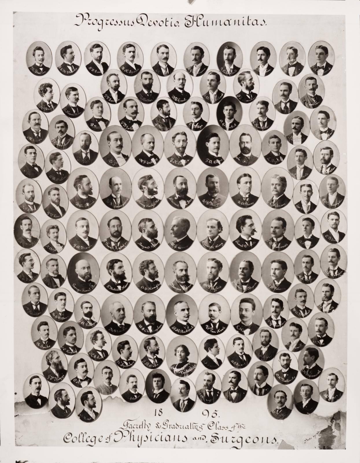 1895 graduating class, University of Illinois College of Medicine
