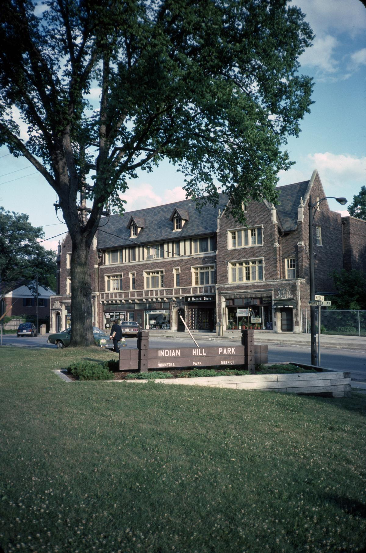 Apartments and shops, Winnetka Avenue and Wilson Street, Winnetka
