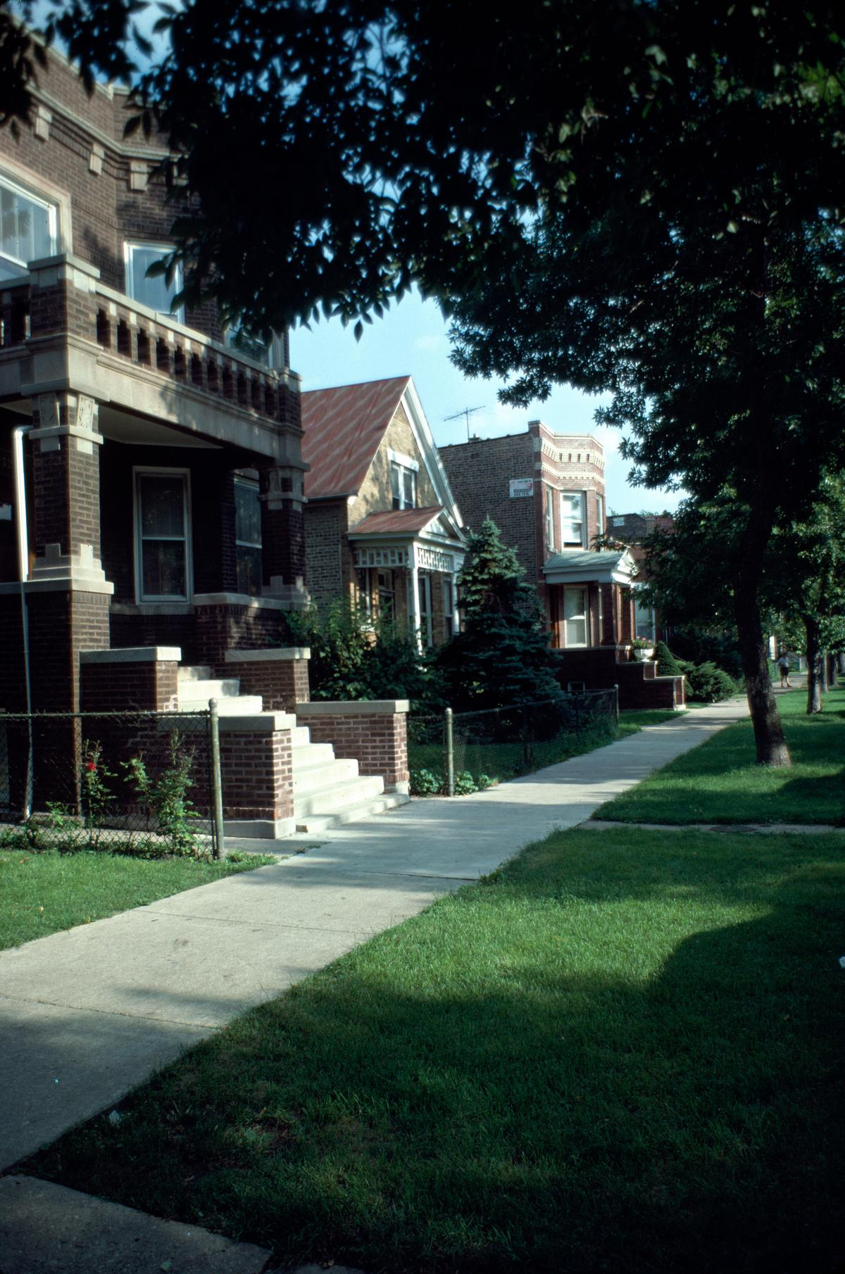 Apartments and houses, North Springfield Avenue