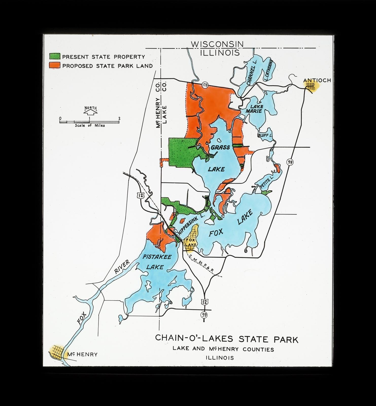 State Parks Illinois Map.Ecc Forest Preserve Maps And Foreign Parks Chain O Lakes State