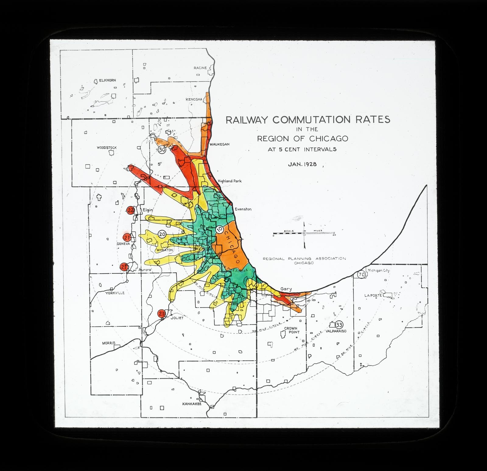 Railway Commutation Rates in the Region of Chicago
