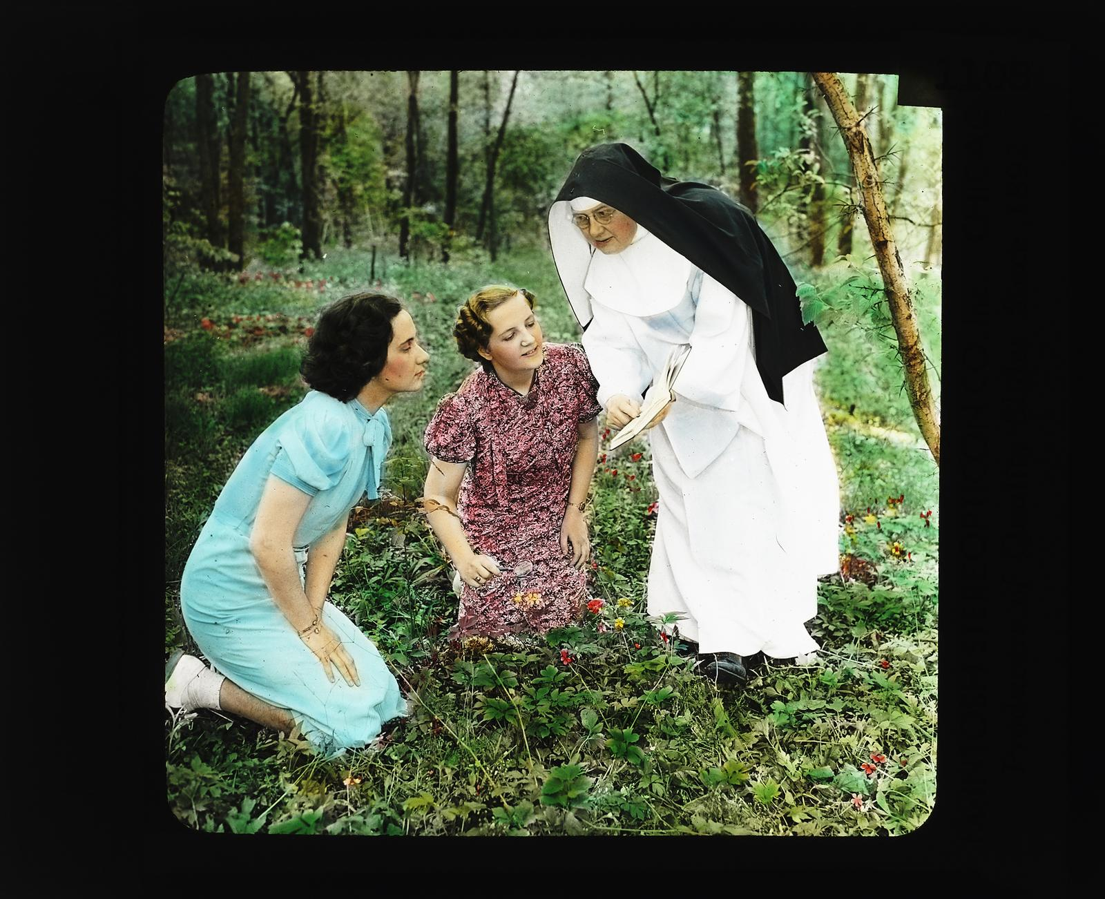 Activities: Picnic and Recreation, Nun and Two Women