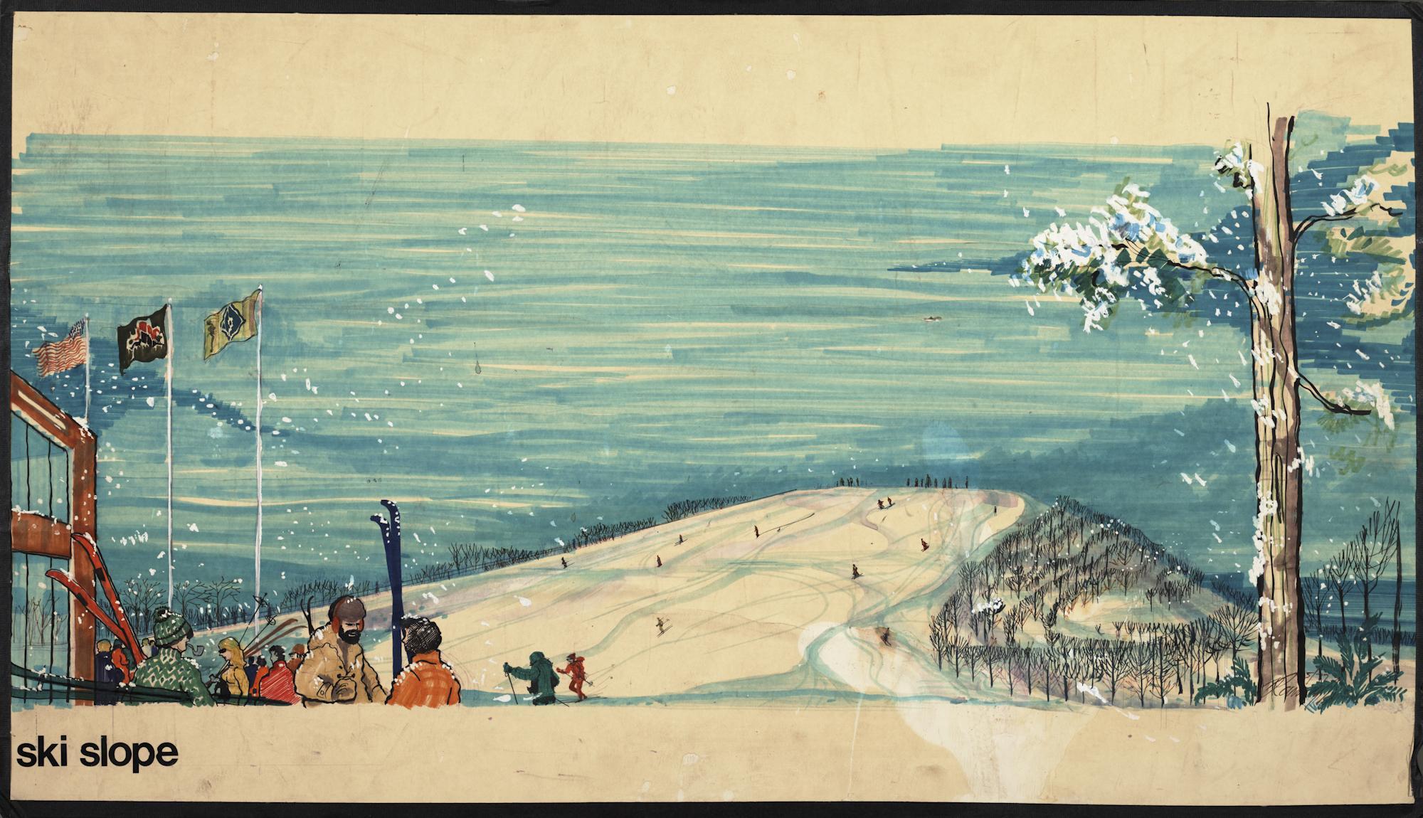 """""""Ski Slope"""" [watercolor]"""