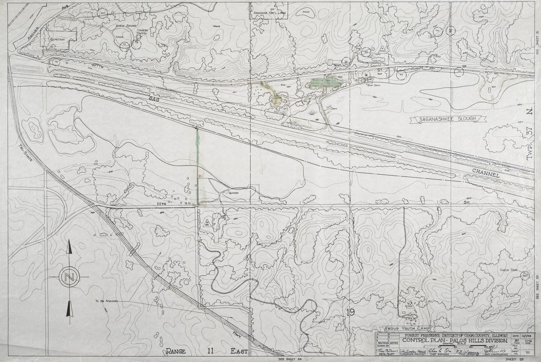 "Control Plan, scale: 1""=400'"