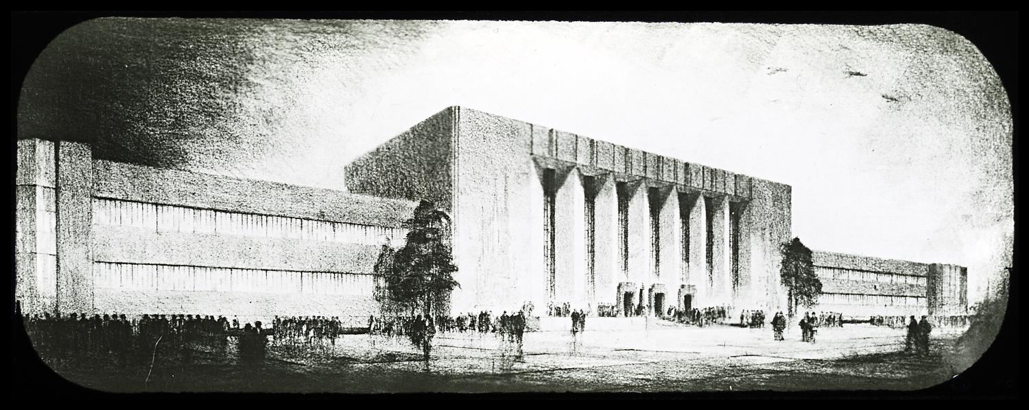 [Architectural drawing of the Century of Progress Administration Building.]