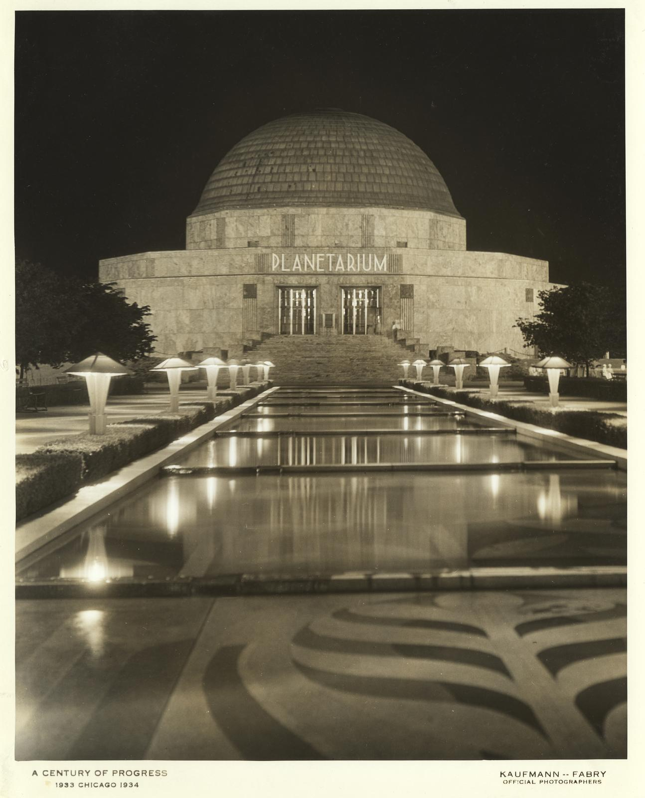 The Adler Planetarium at the Century of Progress International Exposition, 1933-1934.
