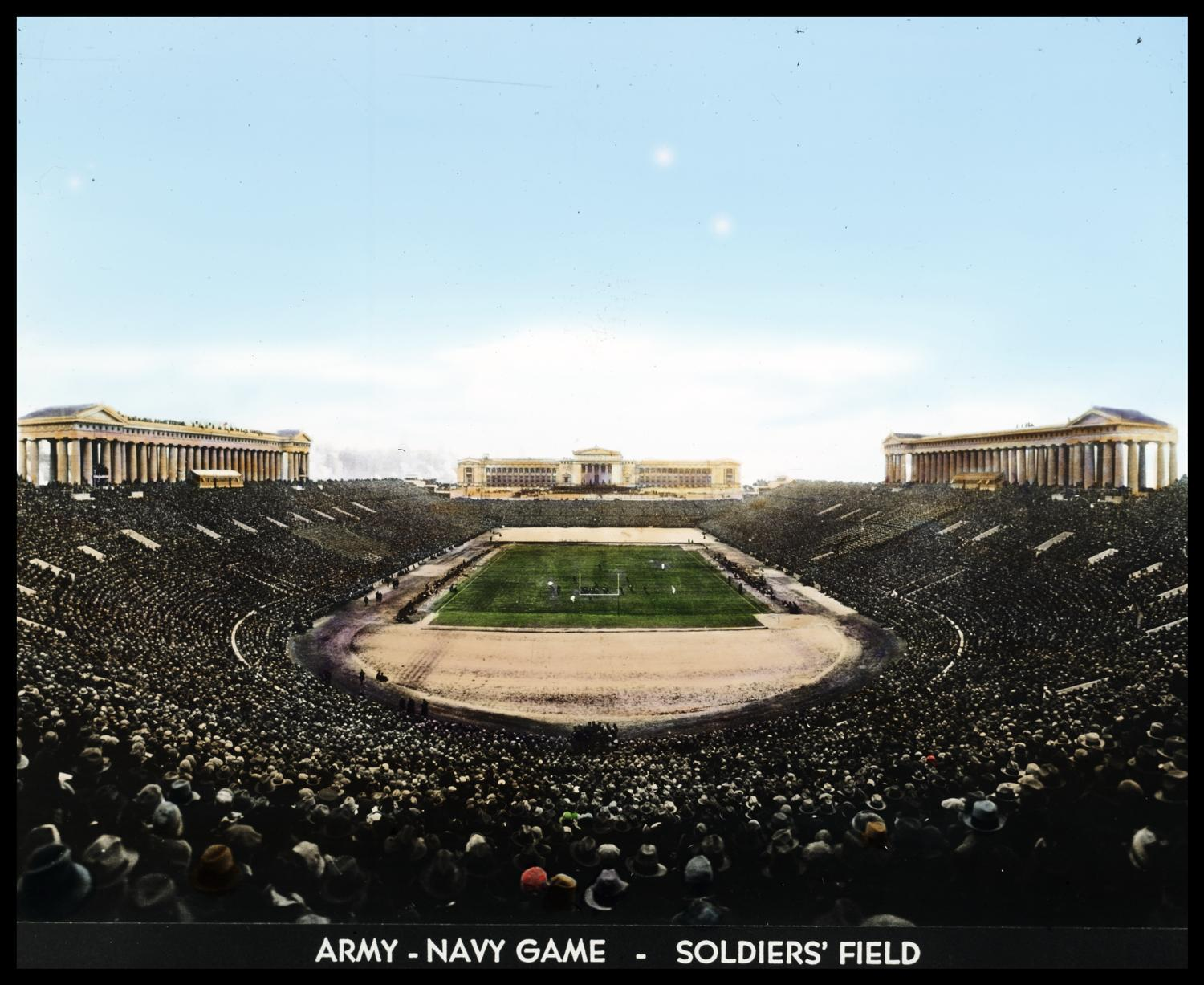 [The Army-Navy football game at Soldier's Field.]