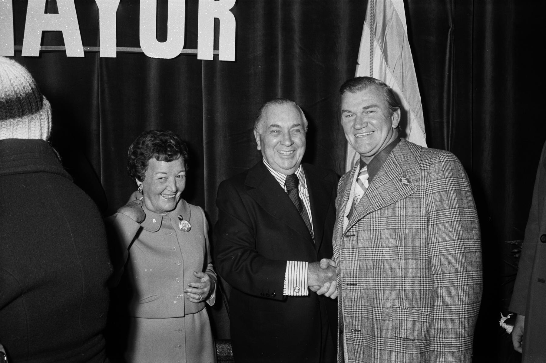 "Alderman Casey Laskowski with Mayor Daley and Eleanor (""Sis"") Daley"